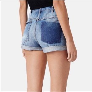 TopShop Moto Mom High Waisted Shorts
